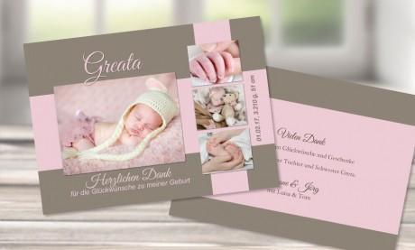 "Danksagungskarten Geburt ""Prinzessin"""