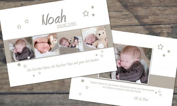 """Danksagungskarten Geburt """"Glückseligkeit"""""""