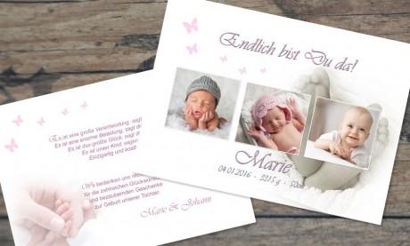 """Danksagungskarten Geburt """"Glücklichmacher"""""""