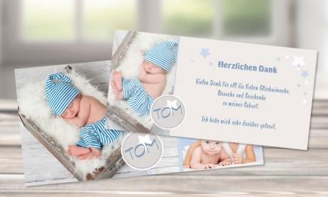 """Dankkarten Geburt """"Sternenreich"""""""