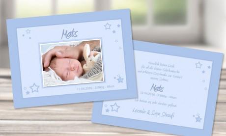 """Danksagungskarten Geburt """"Schlaflied"""""""