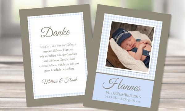 """Danksagungskarten Geburt """"Little Boss"""""""