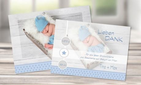 """Danksagungskarten Geburt """"Little Star"""""""