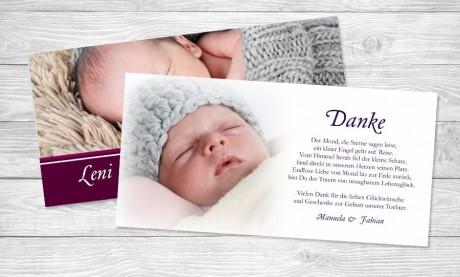 "Dankkarten Geburt ""Gelassenheit"""