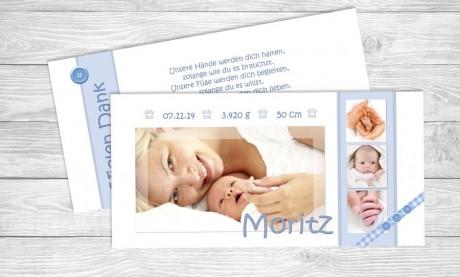 "Dankkarten Geburt ""Klitzeklein"""