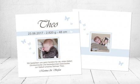 "Dankeskarten Geburt ""100% ICH"""