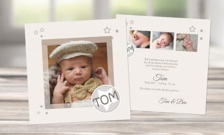 """Dankeskarten Geburt """"Lebenskünstler"""""""