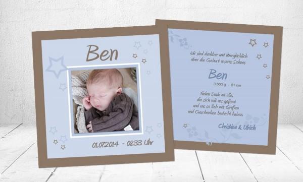 "Dankeskarten Geburt ""Schlaf gut"""