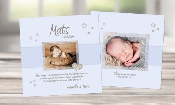 """Dankeskarten Geburt """"Kleiner Prinz"""""""