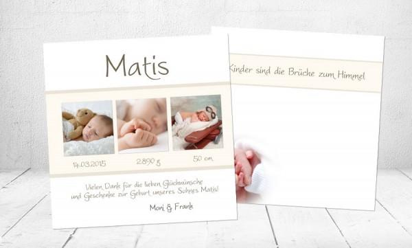 "Dankeskarten Geburt ""Weltentdecker"""