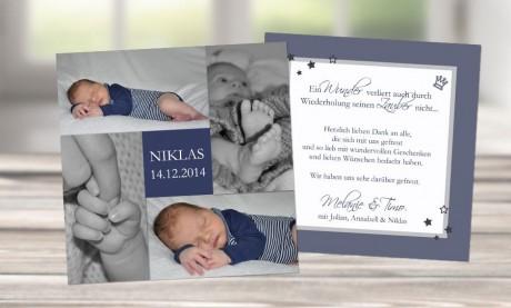 """Dankeskarten Geburt """"Knutschkugel"""""""
