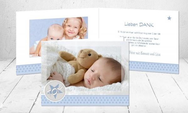 "Dankkarten Baby ""Kleiner Bruder"""