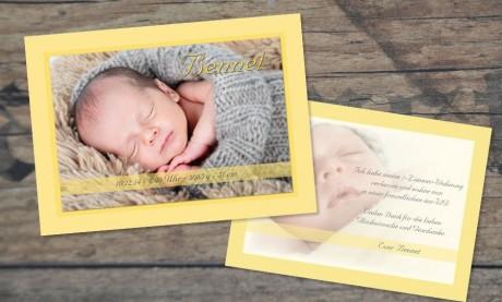 """Danksagungskarten Geburt """"Verzaubert"""""""