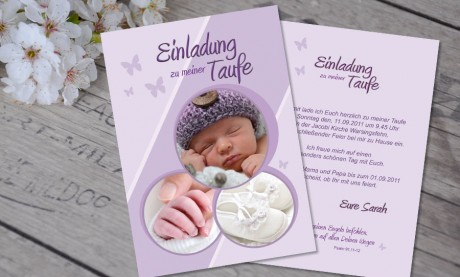 "Einladung Taufe ""Lieblingskarte"""