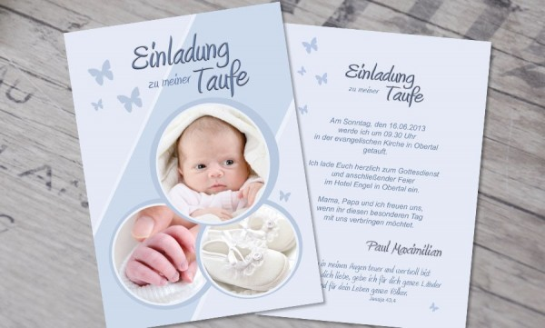 Einladung Taufe Lieblingskarte