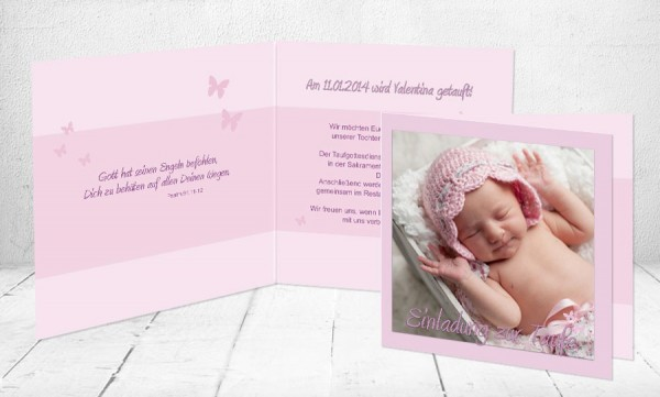 """Taufeinladungskarten """"Einzig & Artig"""""""