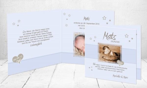 """Baby Dankeskarten """"Lebensglück"""""""
