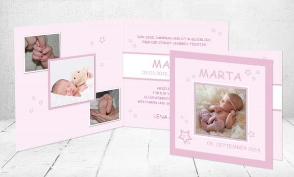 "Baby Dankeskarten ""Marta die Süße"""