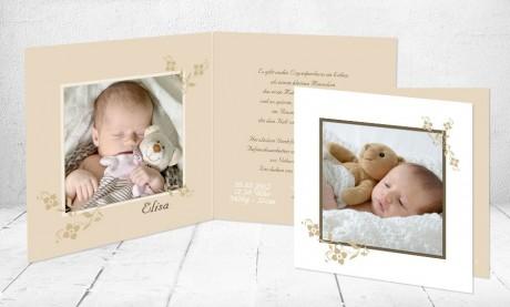 """Geburtskarten Baby """"Knutschbär"""""""
