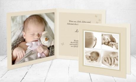 """Geburtskarten Baby """"einzig und artig"""""""