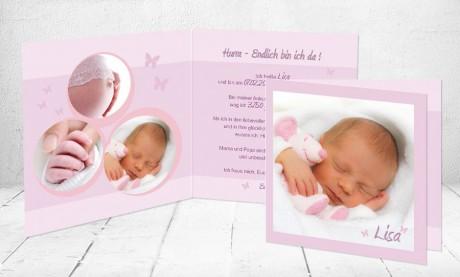 """Geburtskarten Baby """"zuckerlieb"""""""