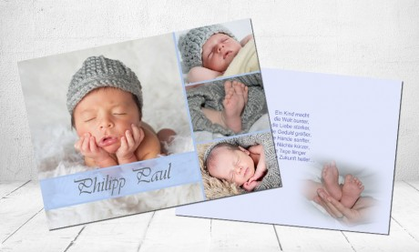 "Geburtskarten Baby ""Krabbeltiger"""
