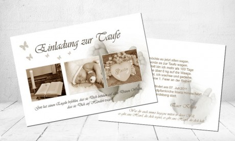"Einladung Taufe ""Glaube"""