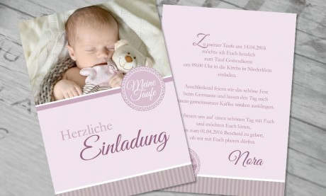 "Einladung Taufe ""Lebensglück"""