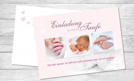 """Einladung Taufe """"Strahlender Engel"""""""