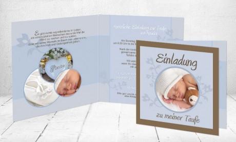 """Taufeinladungskarten """"Taufschühchen"""""""
