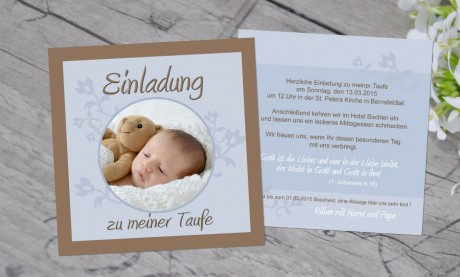 "Einladung Taufe ""Lebensfreude"""