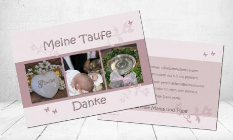 "Danksagungskarten Taufe ""Großer Tag"""