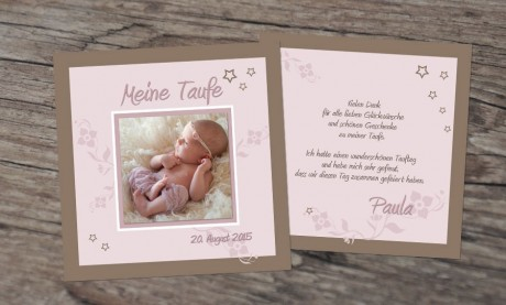 "Taufe Dankeskarten ""Engelchen"""