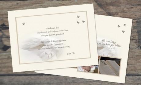 "Danksagungskarten Taufe ""Liebe"""