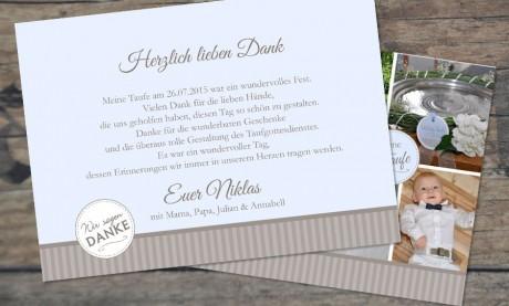 """Danksagungskarten Taufe """"Meine Taufe"""""""
