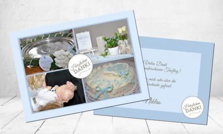 """Danksagungskarten Taufe """"Herzlichen Dank"""""""