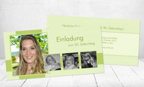 """Einladungskarten Geburtstag """"Rückblick"""""""