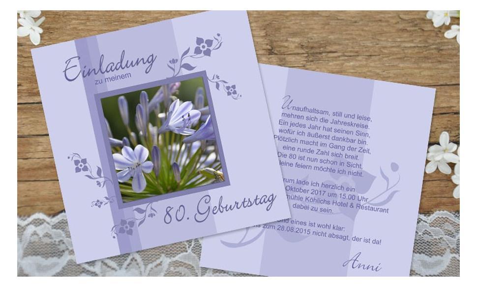 """Einladungskarten Geburtstag """"Blumenpracht"""""""