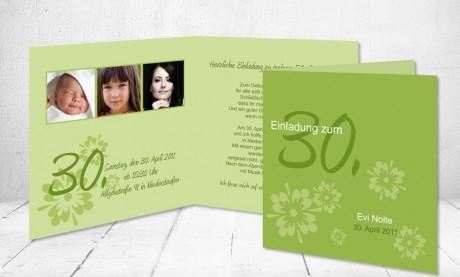 """Einladungskarte runder Geburtstag """"Happy Day"""""""