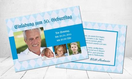 """Einladungskarten Geburtstag """"Oktoberfest"""""""