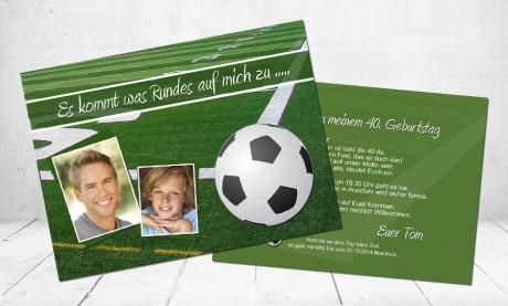 """Einladungskarten Geburtstag """"Jetzt wird's rund"""""""