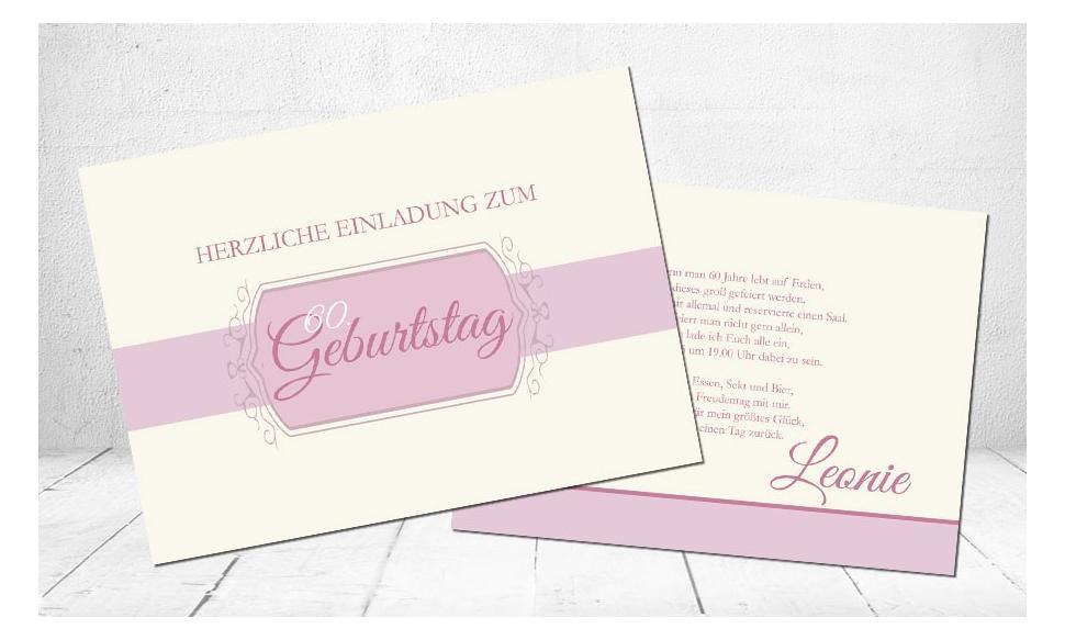 """Einladungskarten Geburtstag """"Old school"""""""