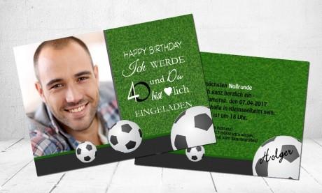 """Einladungskarten Geburtstag """"Fußball"""""""