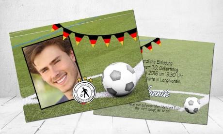"""Einladungskarten Geburtstag """"Fußballfan"""""""