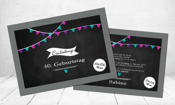 """Einladungskarten Geburtstag """"Gartenparty"""""""