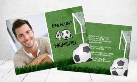 """Einladungskarten Geburtstag """"Heimspiel"""""""