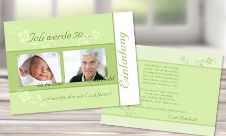 "Einladungskarten Geburtstag ""look back"""