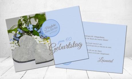 """Einladungskarten Geburtstag """"Blumenglanz"""""""