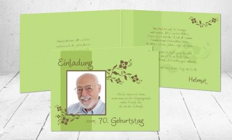 """Einladungskarte runder Geburtstag """"Jubelzeit"""""""