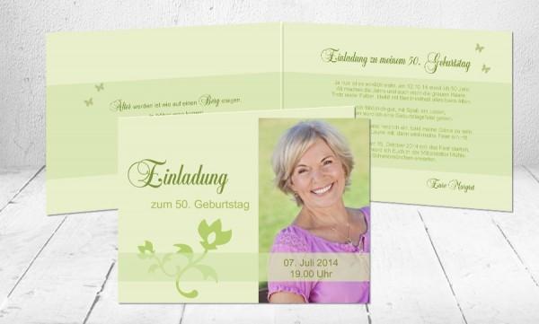 """Einladungskarte runder Geburtstag """"Glückseligkeit"""""""